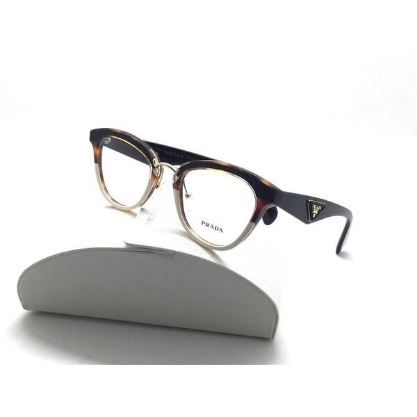 1e5fc2b221 PRADA ORNATE Tortoise Ivory Eyeglasses Women VPR PR 26SV Havana 51 21 140