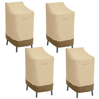 Classic Accessories Veranda Patio Bar Chair/Stool Cover - 4-Pack