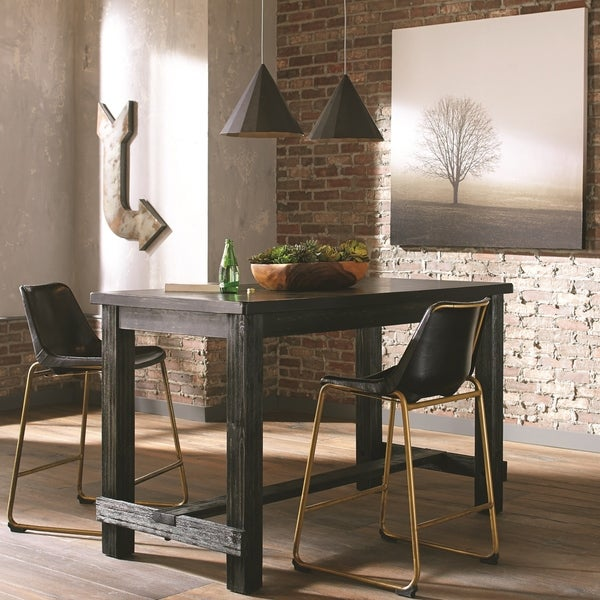 Shop Craftsman Design Counter Height Dining Set With Black