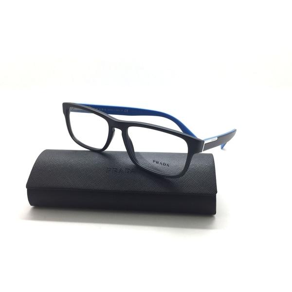 5a42e9f14219 Shop Prada Black/Blue men's/women's eyeglasses frame VPR 07P 56-17 ...