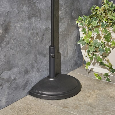 Fitzgerald Outdoor 25lb Concrete Half Round Umbrella Base by Christopher Knight Home