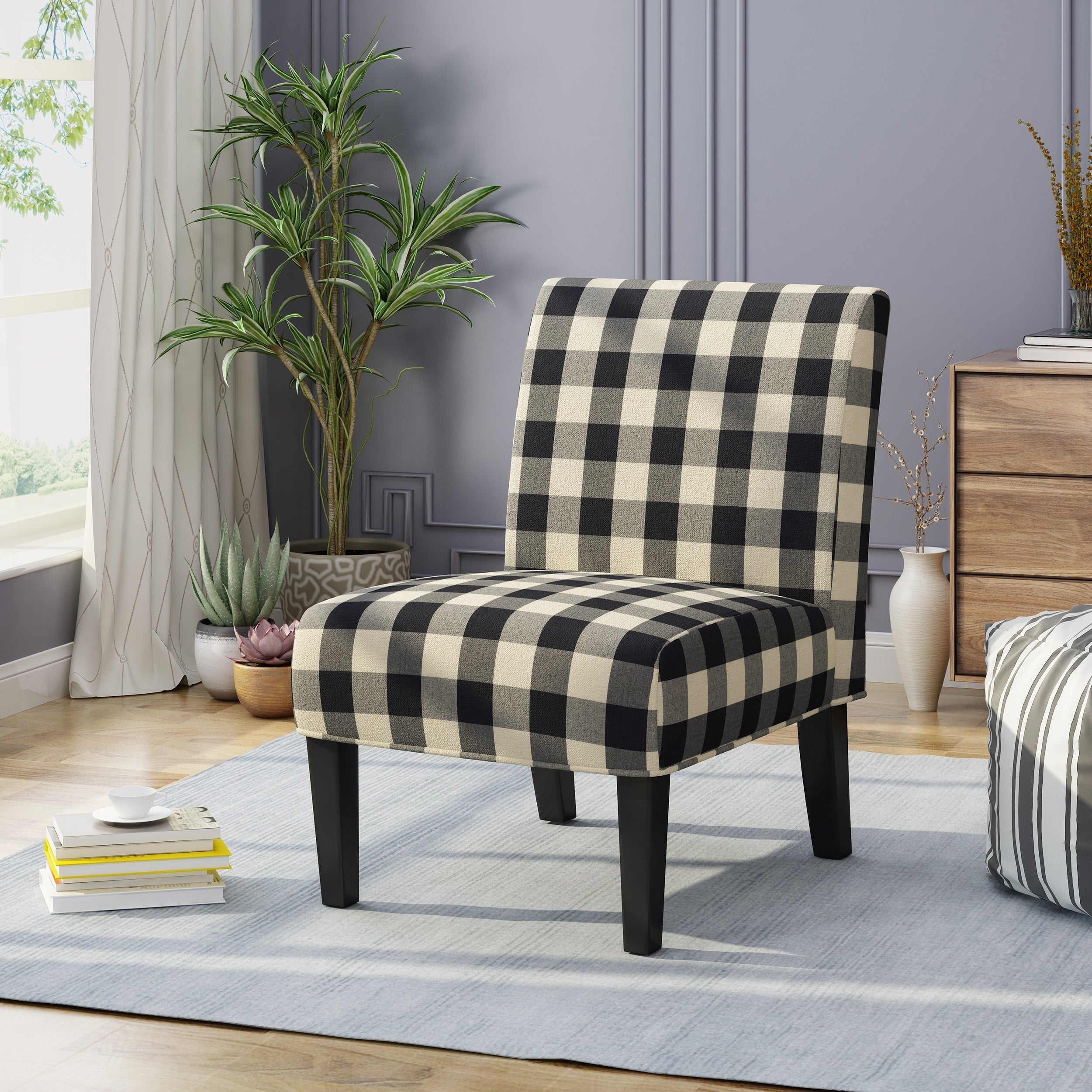 Buy plaid living room chairs online at overstock our best living room furniture deals