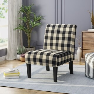 Kassi Traditional Upholstered Farmhouse Accent Chair by by Christopher Knight Home