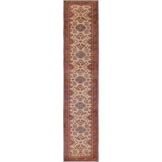 Kazak Marcos Ivory/Rust Wool Rug (2'8 x 15'11) - 2 ft. 8 in. x 15 ft. 11 in.