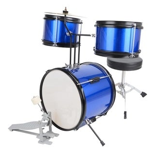 "12"" Junior Drum Set 3-Piece Kids Child Drum Kit Gift"