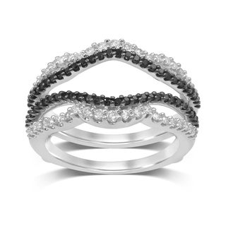 Unending Love 14K White Gold 5/8cts Diamond Wrap Guard Ring