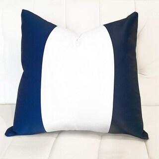 DriftAway Mia Decorative Navy and white Stripe Sofa Throw Pillow Cover