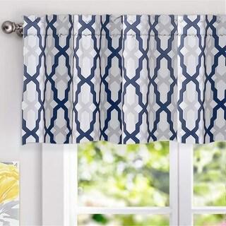 DriftAway Mason Geometric Trellis Pattern Window Curtain Valance