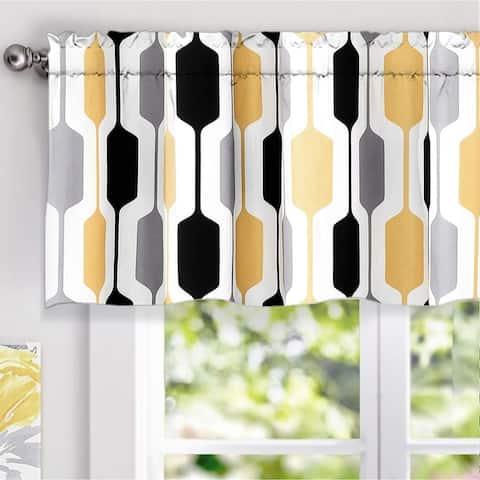 DriftAway Riley Geo Lined Window Curtain Valance