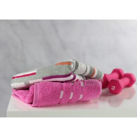 Fuse Sport Gym Towel Bundle, 1 Solid and 1 Print Gym Towel, 2-Pack (16x32) - N/A