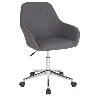 Home & Office Mid-Back LeatherSoft Upholstered Swivel Chair