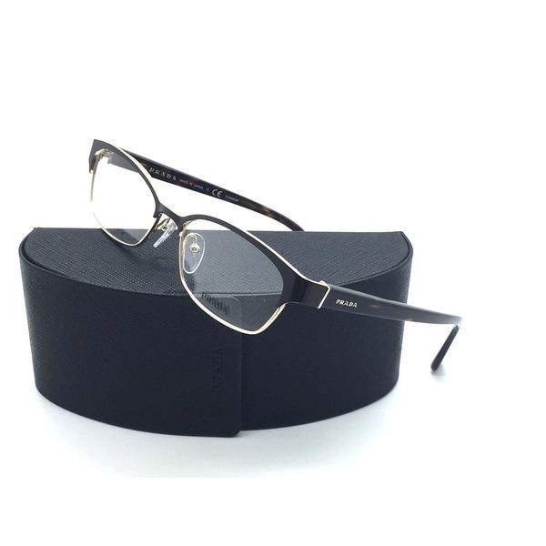 5ecbe862bd9be Shop Prada Gold metal Shiny Black Eyeglasses VPR 53S ZVN 1O1 54 mm ...