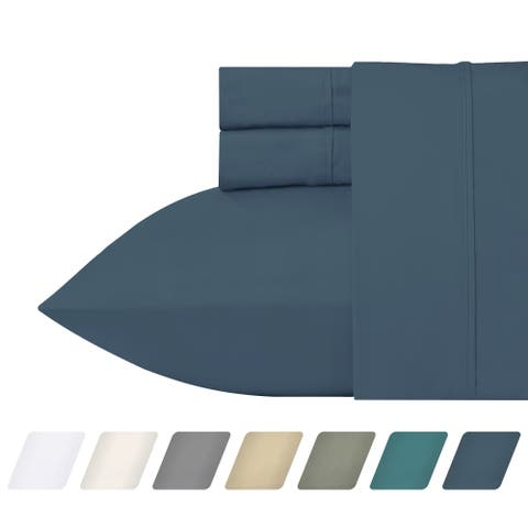 California Design Den 300 Thread Count Cotton Percale Sheet Set