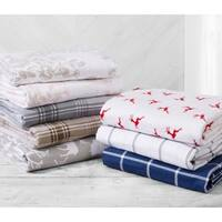 Great Bay Home Extra Soft 100% Turkish Cotton Flannel Printed Sheet Set