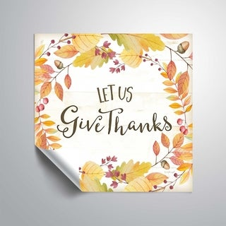 ArtWall Let us give thanks Removable Wall Art Mural