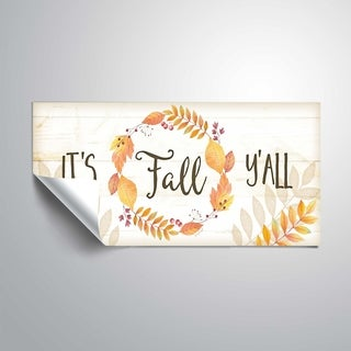ArtWall It's Fall Y'all Removable Wall Art Mural