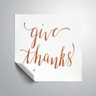 ArtWall Give thanks Removable Wall Art Mural