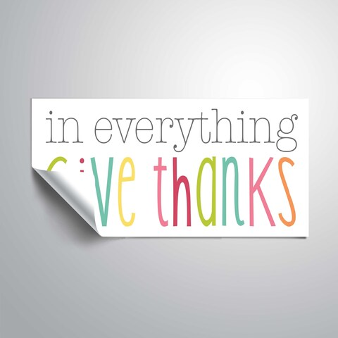 ArtWall In everything, give thanks Removable Wall Art Mural