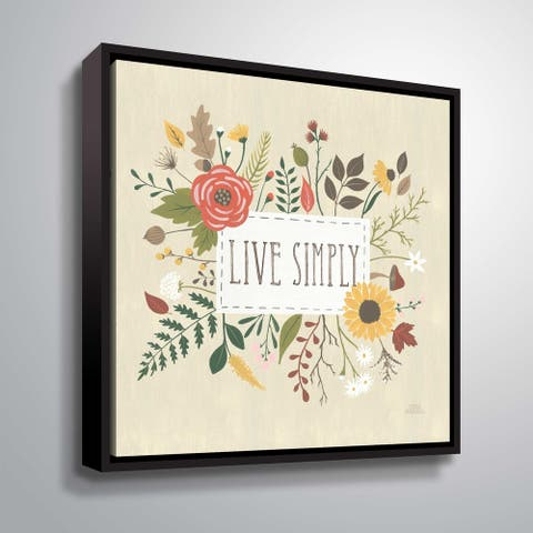 'ArtWall' Autumn Garden I Gallery Wrapped Floater-framed Canvas