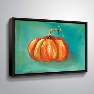 'ArtWall' Pumpkin Gallery Wrapped Floater-framed Canvas
