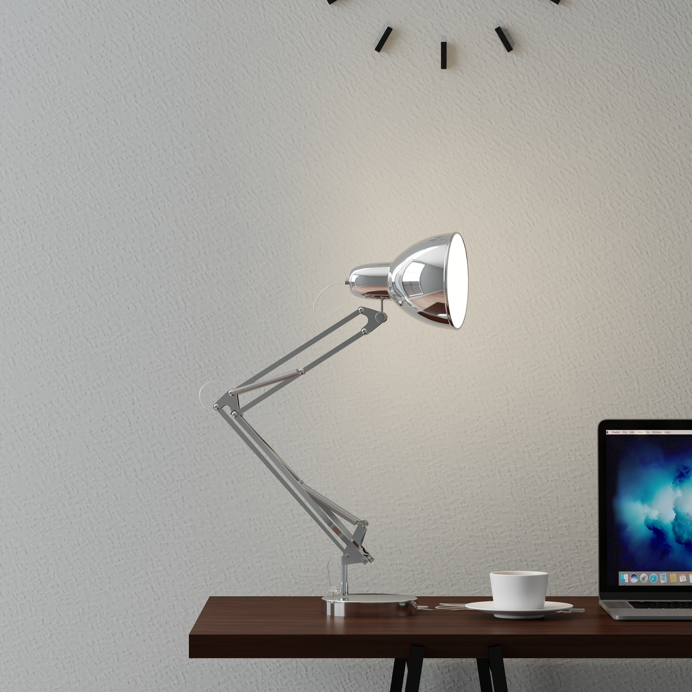 Architect Desk Lamp Led Task Light With Adjule Swing Arm For Home And Office Lavish Metal Chrome