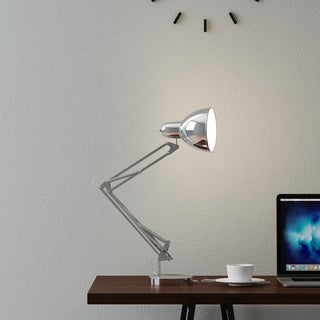 Architect Desk Lamp- LED Task Light with Adjustable Swing Arm for Home and Office Lavish Home (Metal Chrome)