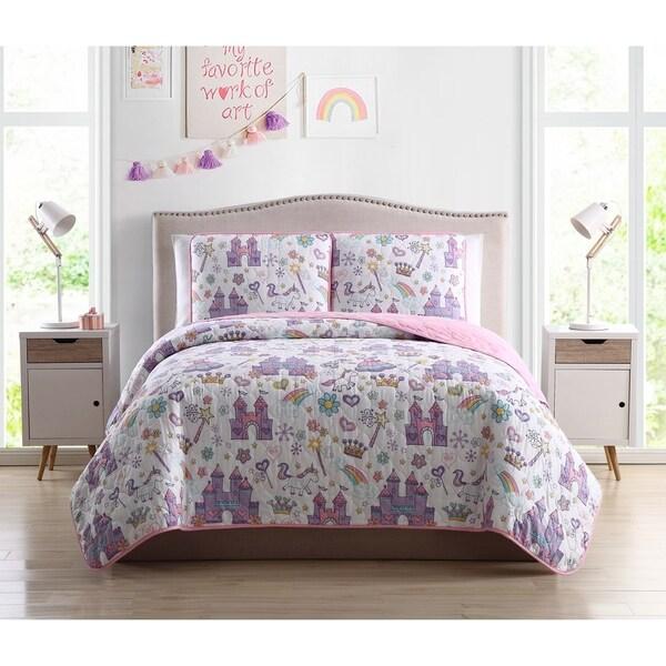Asher Home Magical Unicorn Castle 3-piece Quilt Set
