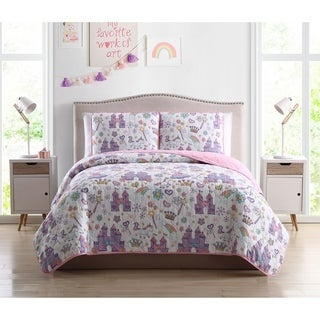 Asher Home Magical Unicorn Castle 3-piece Quilt Set