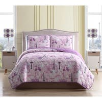 Asher Home Magical Paris 3-piece Quilt Set