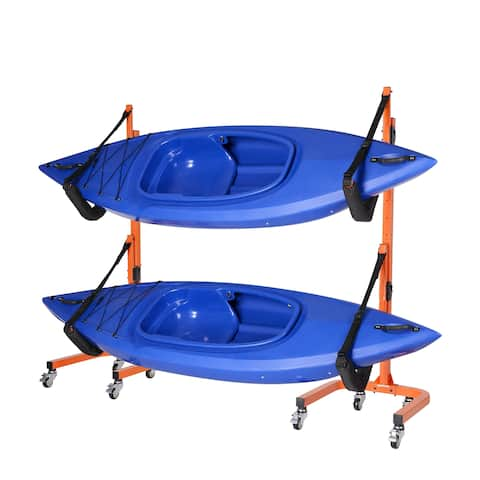 Rolling Kayaks Rack Storage-Indoor Outdoor use by Rad Sportz