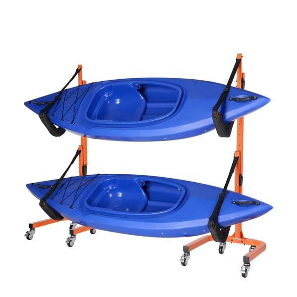 Shop Rolling Kayaks Rack Storage Indoor Outdoor Use By Rad