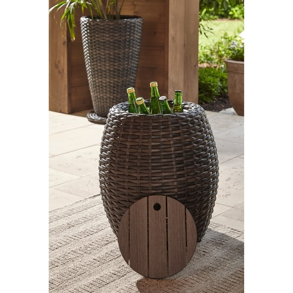 Shop Klaussner Outdoor Margo Round Accent Table With Ice