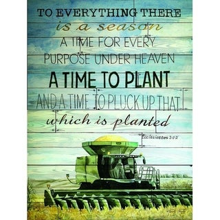 Decorative Wall Sign- A Time to Plant