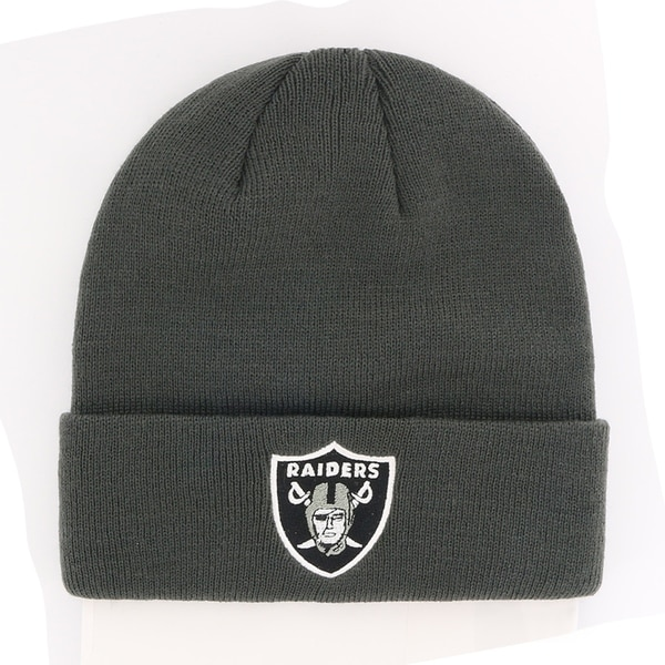 Shop NFL Oakland Raiders Cuff Knit Beanie - Free Shipping On Orders Over   45 - Overstock.com - 23134365 133ada4851c7