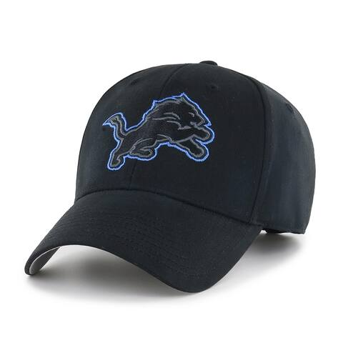 NFL Detroit Lions Black Classic Adjustable Hat