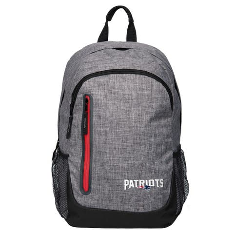 Forever Collectibles NFL New England Patriots Heather Grey Bold Backpack
