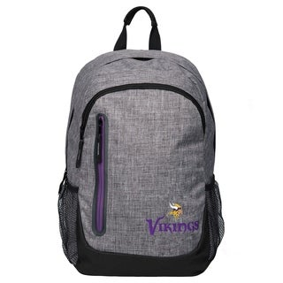 Forever Collectibles NFL Minnesota Vikings Heather Grey Bold Backpack