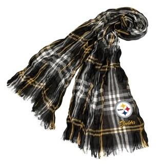 NFL Pittsburgh Steelers Plaid Crinkle Scarf