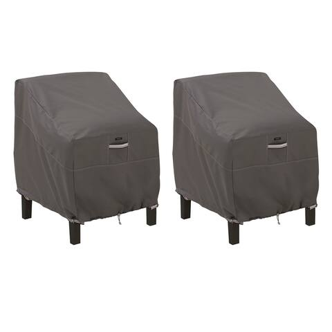 Classic Accessories Ravenna Water-Resistant 38 Inch Patio Lounge Chair Cover, 2 Pack