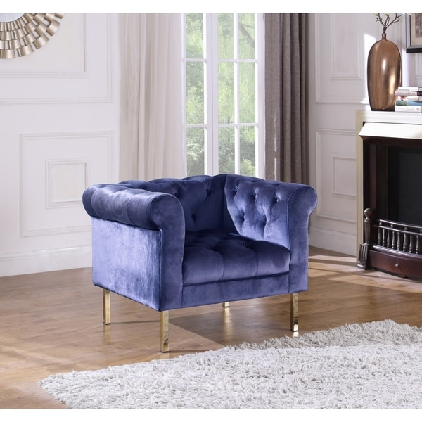 Chic Home Julian Club Chair Velvet Upholstered Button Tufted. Opens flyout.
