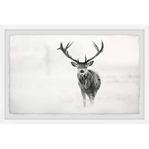 Marmont Hill - Handmade Elk Stare Framed Print