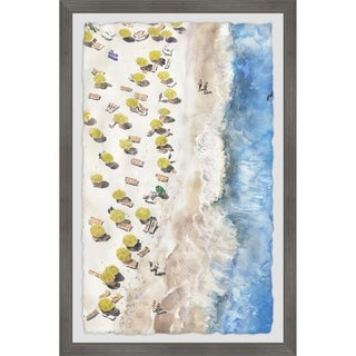 Link to Marmont Hill - Handmade Yellow Sunshade Framed Print Similar Items in Art Prints