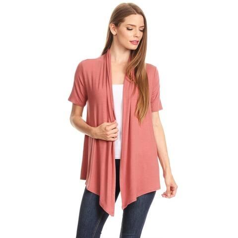 Women's Casual Basic Solid Draped Cardigan