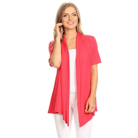 Women's Casual Basic Solid Draped Cardigan