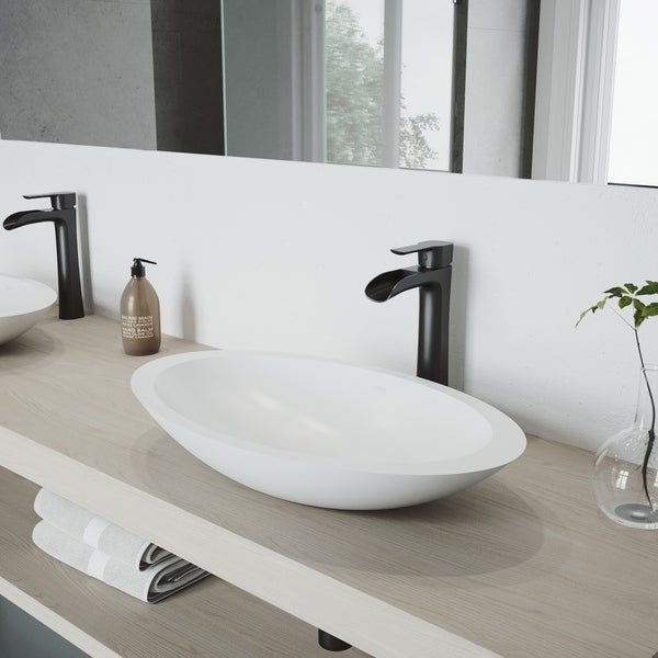 VIGO Niko Matte Black Vessel Bathroom Faucet
