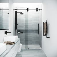 VIGO Elan Clear Adjustable Frameless Sliding Shower Door