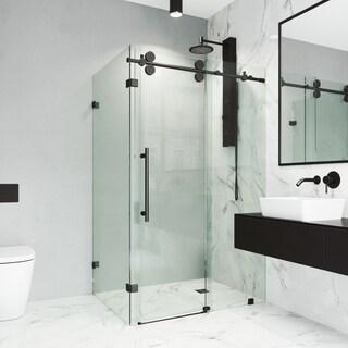 VIGO Winslow Clear Frameless Sliding Door Shower Enclosure