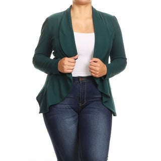 Women's Casual Plus Size Loose Draped Lightweight Cardigan