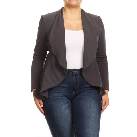 Women's Casual Plus Size Loose Draped Lightweight Cardigan