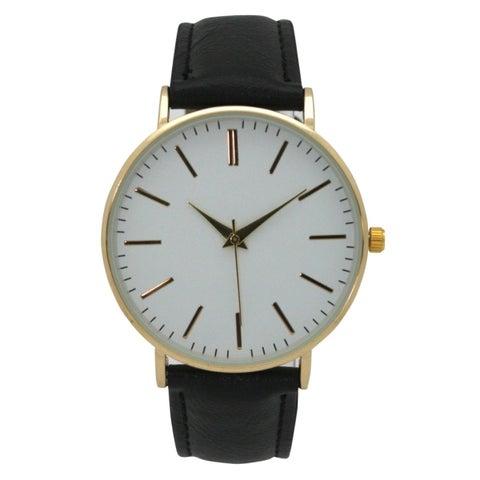 Olivia Pratt Analog Dial Leather Watch - One size